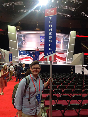 Noah Crosley at the Republican National Convention