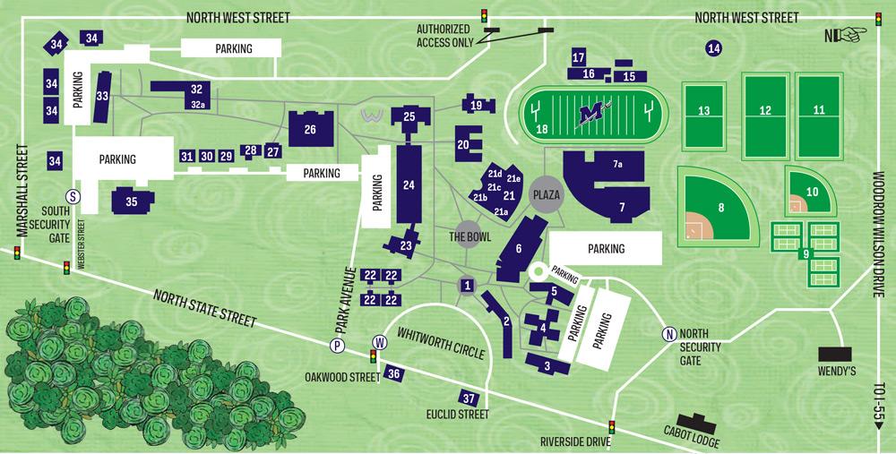 Millsaps College Campus Map 105
