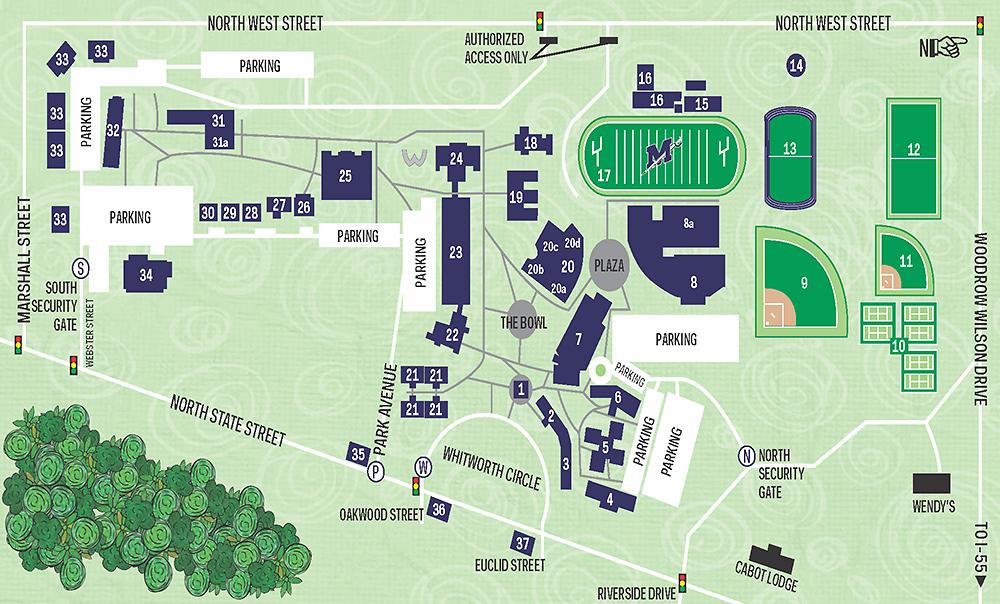Millsaps College Campus Map 26