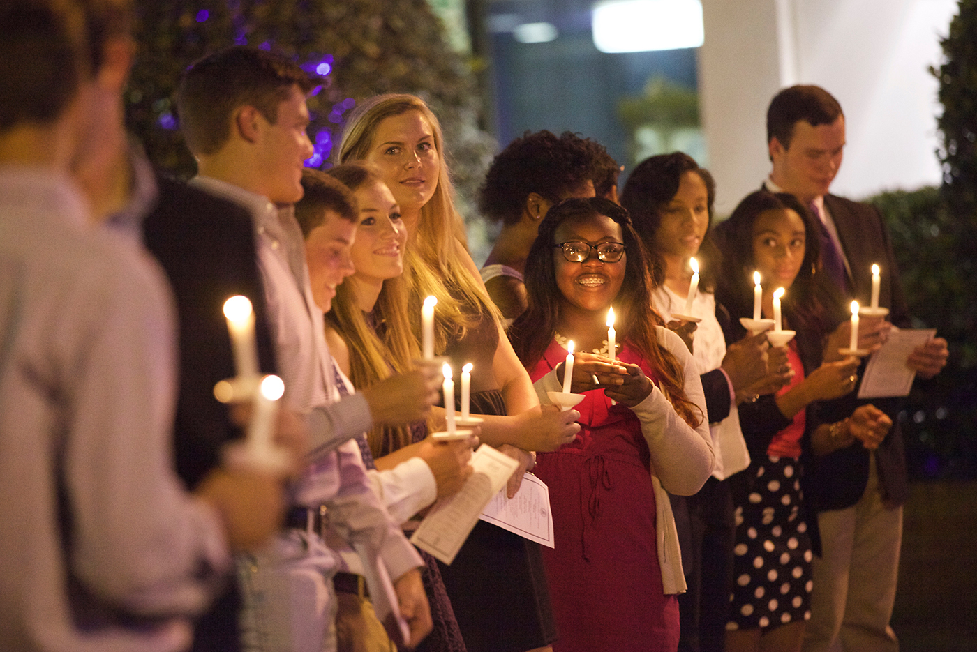 The Fourth Night Ceremony celebrates the arrival of the new student scholars to the Millsaps community. On the fourth night of the students' tenure at the College they pledge to uphold the Student Conduct Code and are challenged to uphold the high standards that Millsaps adheres to.