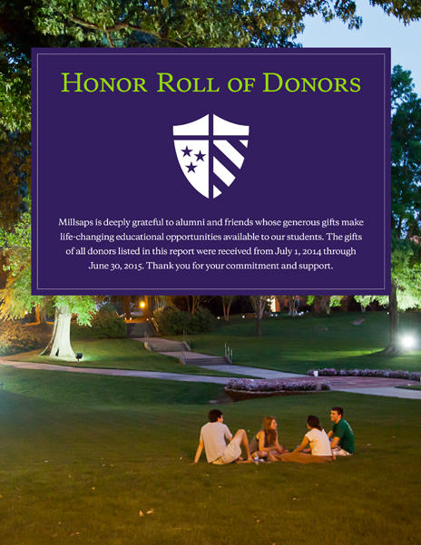 Millsaps College Honor Roll of Donors
