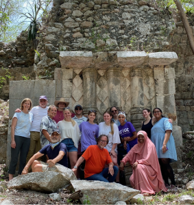 Dr. George Bey and students pose for a picture after a hike in the Yucatan. Summer 2021.